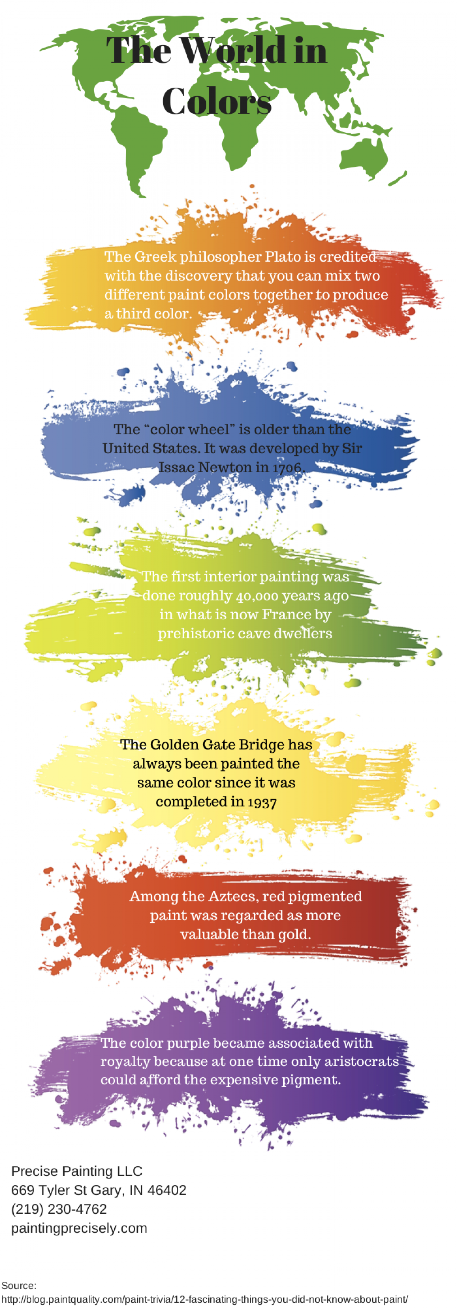 The World in Colors Infographic