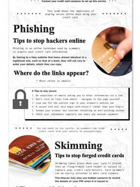 The World's Biggest Credit Card Scams Infographic