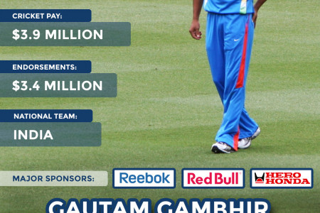 The World's Highest Paid Cricketers Infographic