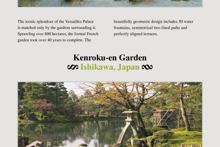 The World's Most Breath-Taking Gardens Infographic