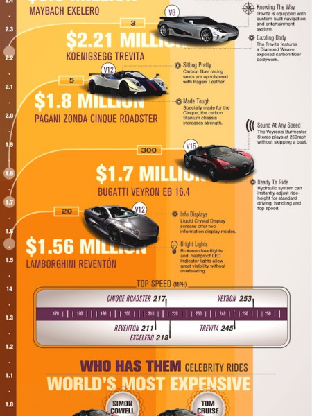 The World's Most expensive Cars Infographic