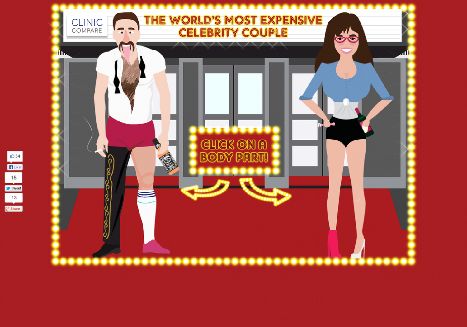 The World's Most Expensive Celebrity Couple Infographic