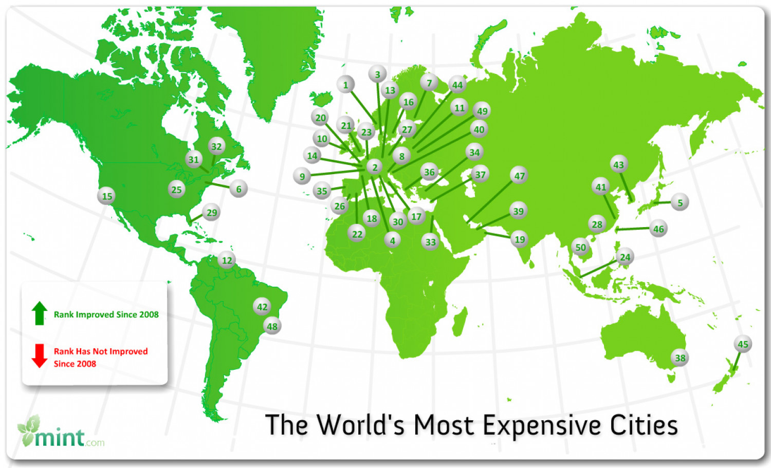 The World's Most Expensive Cities  Infographic