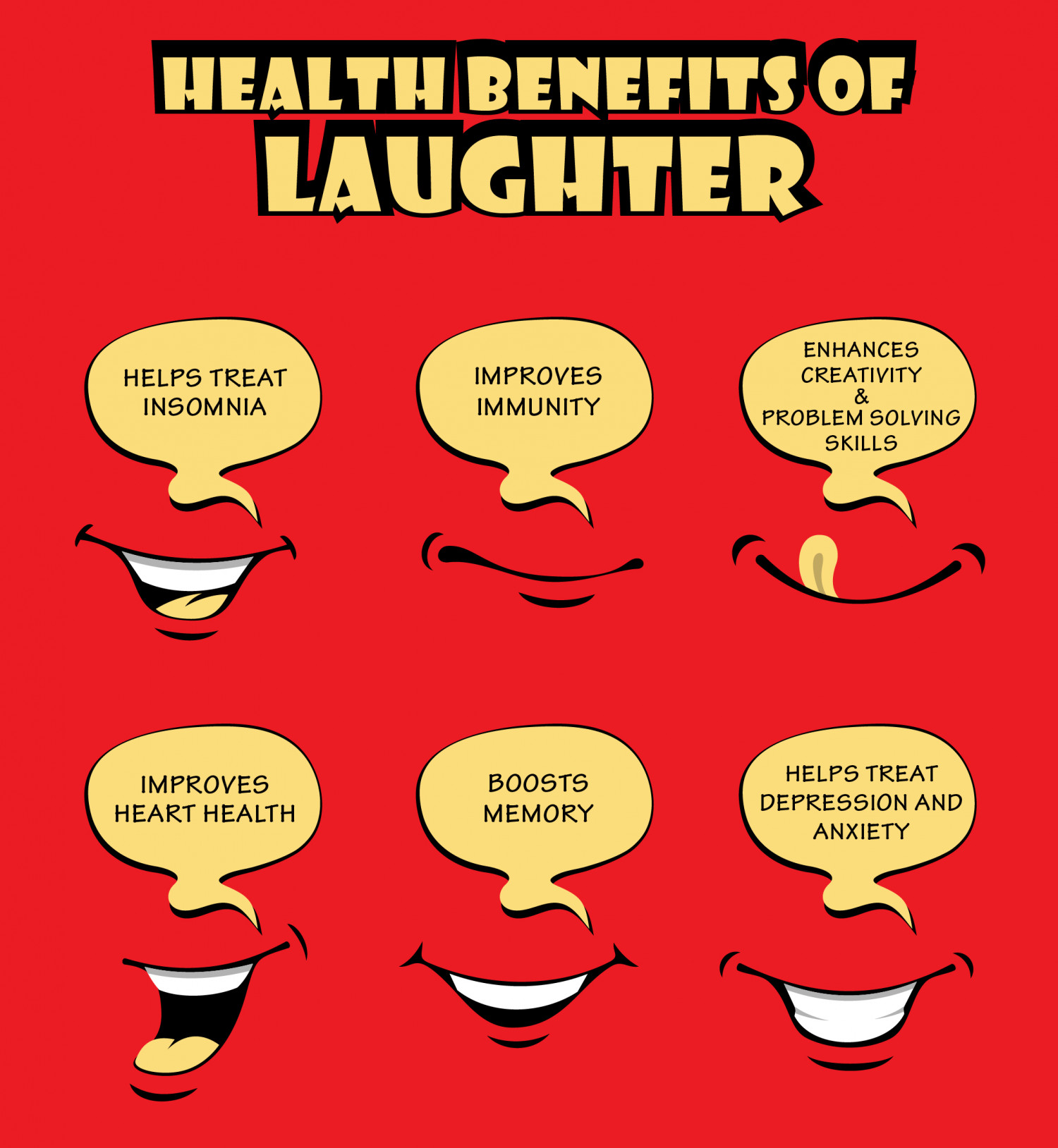 Health Benefits of Laughter Infographic