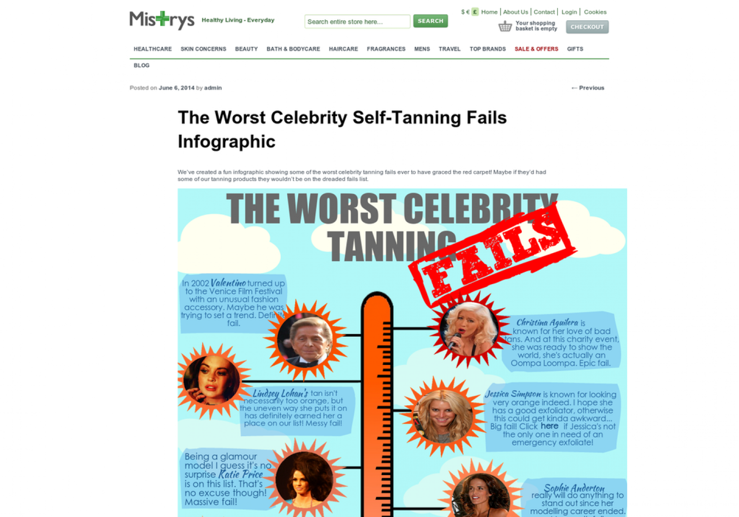 The Worst Celebrity Self-Tanning Fails  Infographic