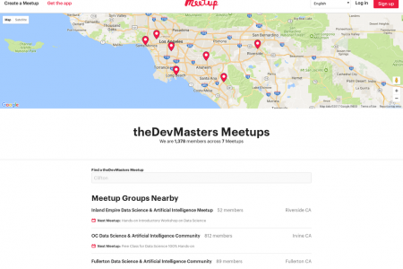 theDevMasters @ Meetup.com Infographic