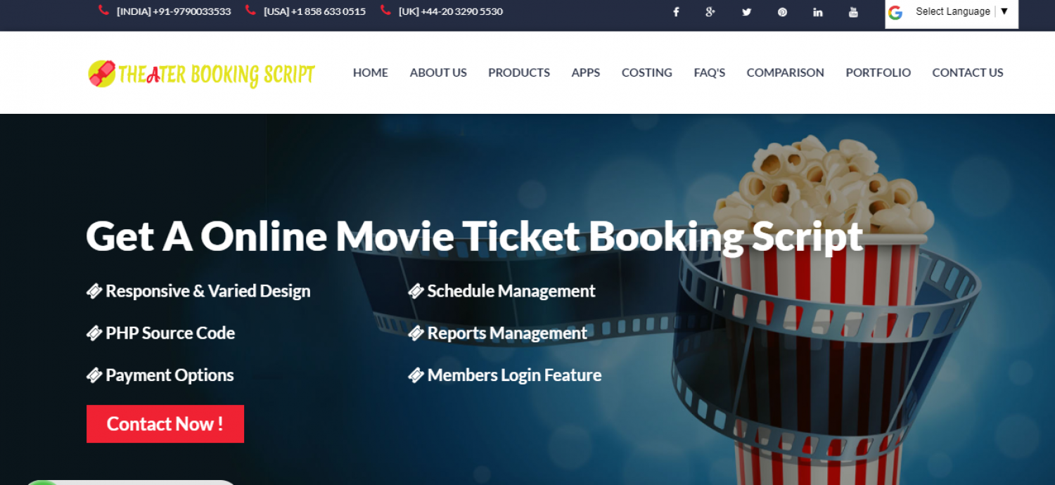 Theatre Booking Script | 9841300660 Infographic