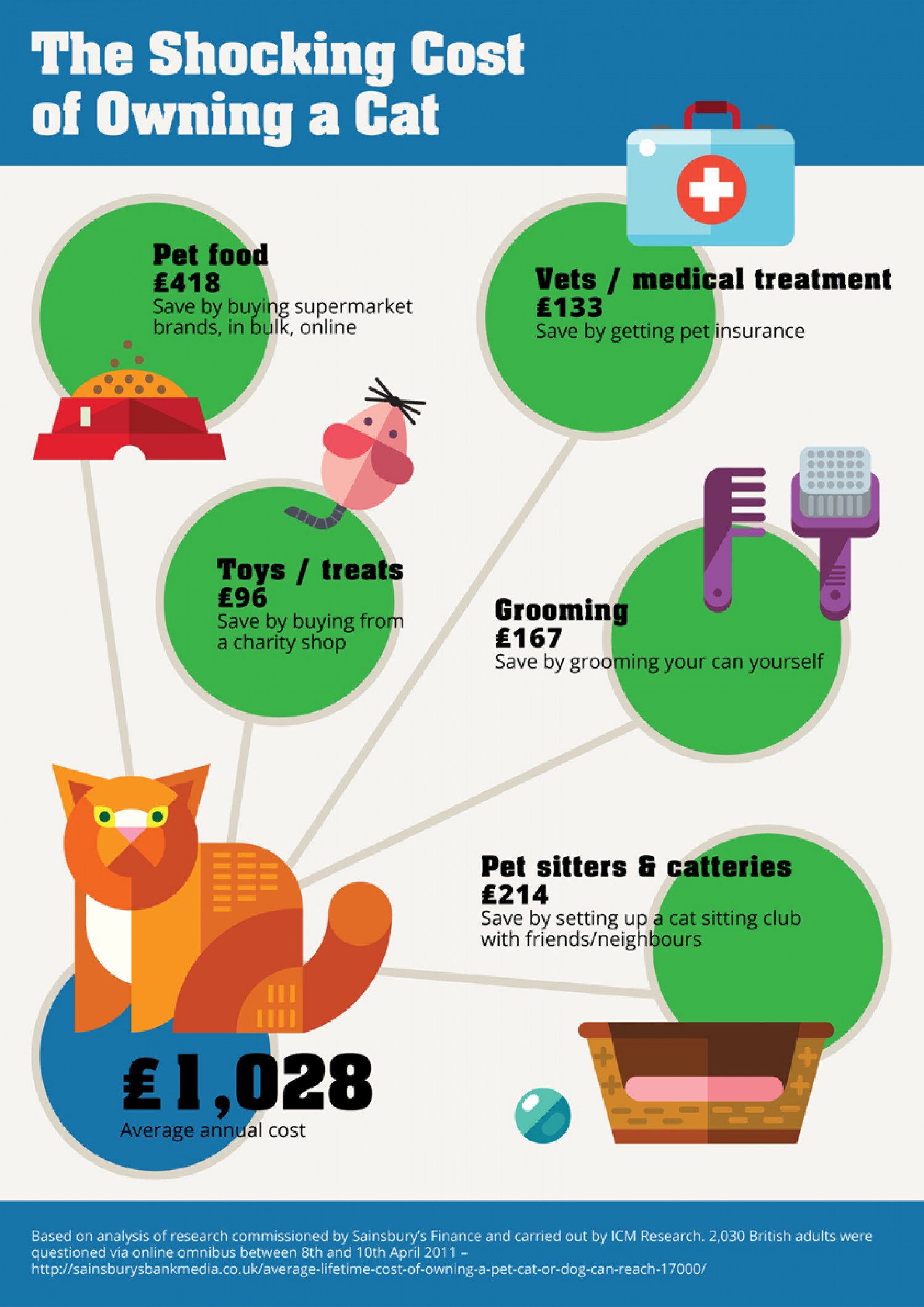 The Shocking Cost of Owning a Cat in the U.K. Infographic