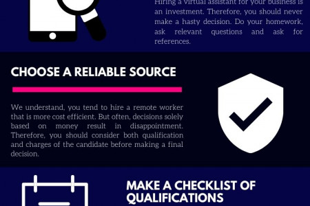 Things to consider before hiring a virtual assistant Infographic