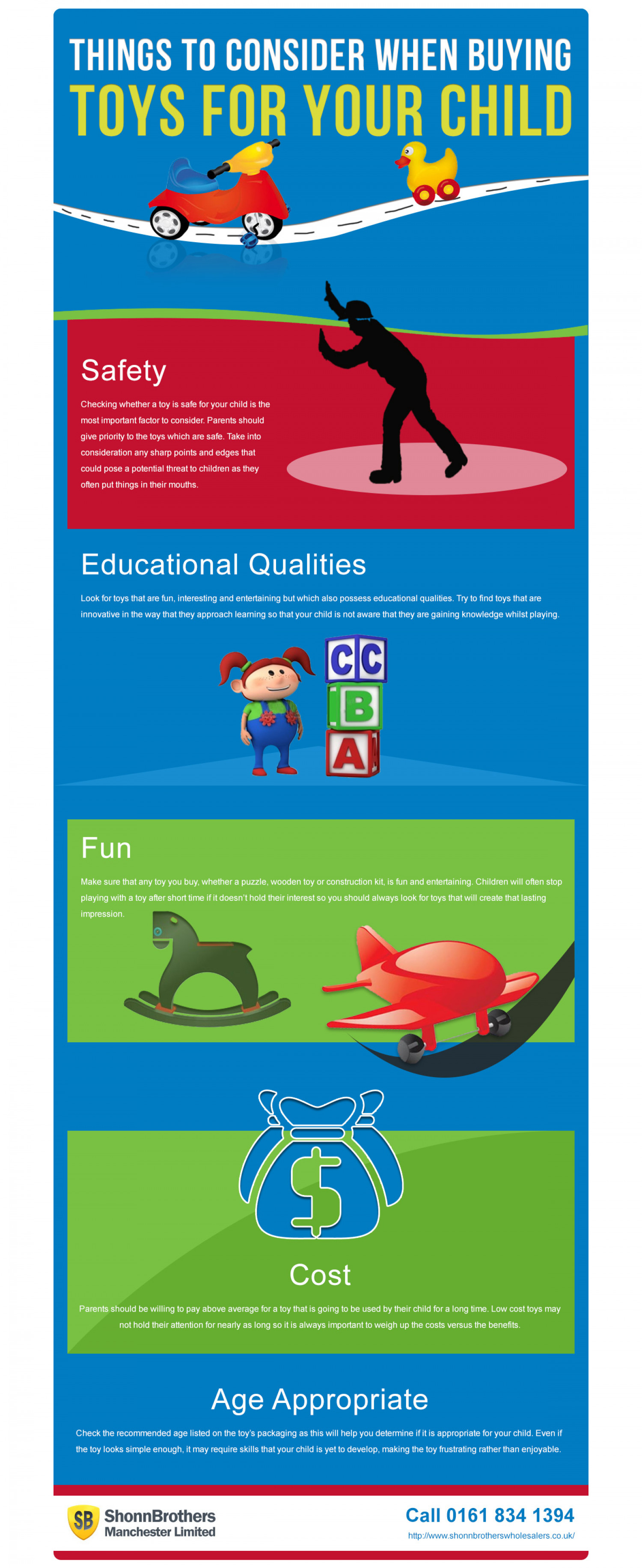 Things to Consider When Buying Toys For Your Child Infographic