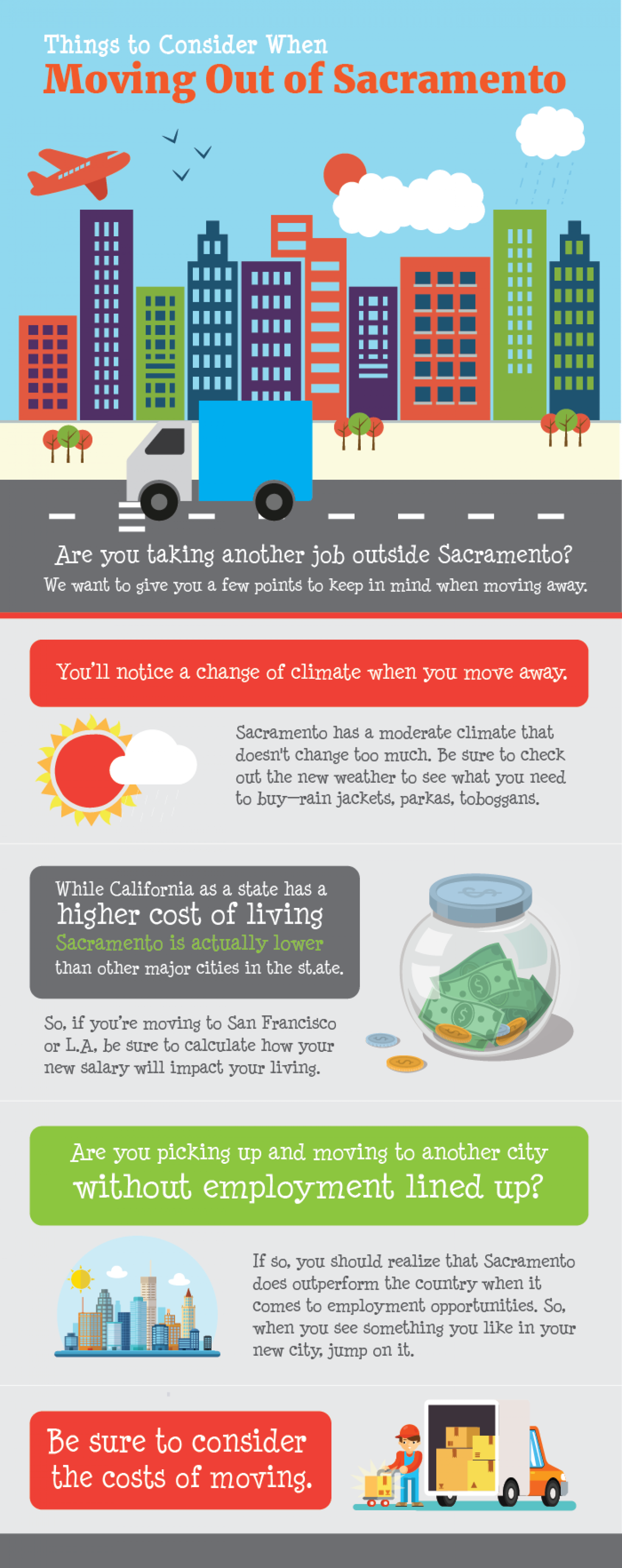 Things to Consider When Moving Out of Sacramento Infographic