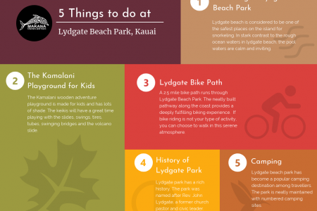 Things to do at Lydgate Beach Park [Infographic] Infographic