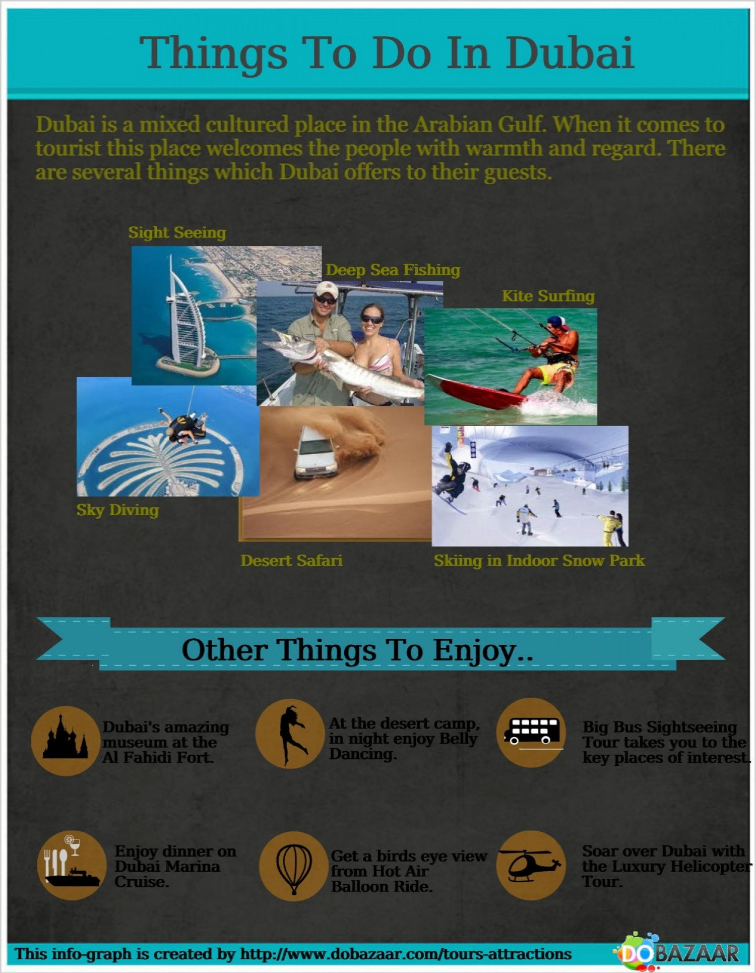 Things to Do in Dubai Infographic