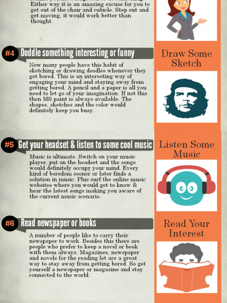 Things to do When You're Bored at Work Infographic