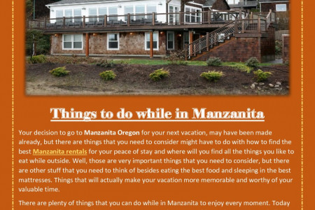 Things to do while in Manzanita Infographic