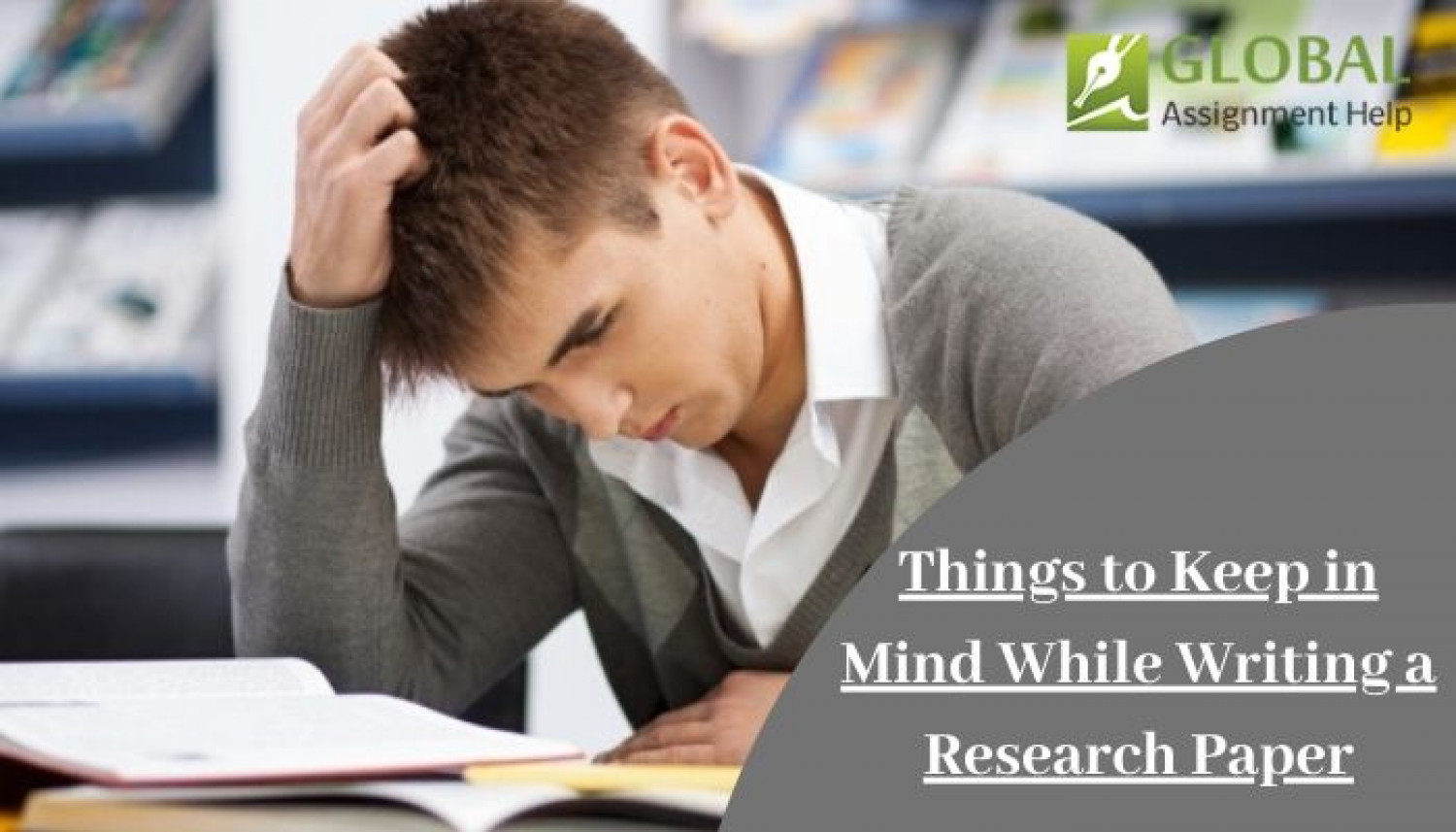 Things to Keep in Mind While Writing a Research Paper Infographic