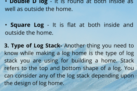 THINGS TO KEPT IN MIND WHILE BUILDING LOG HOMES Infographic
