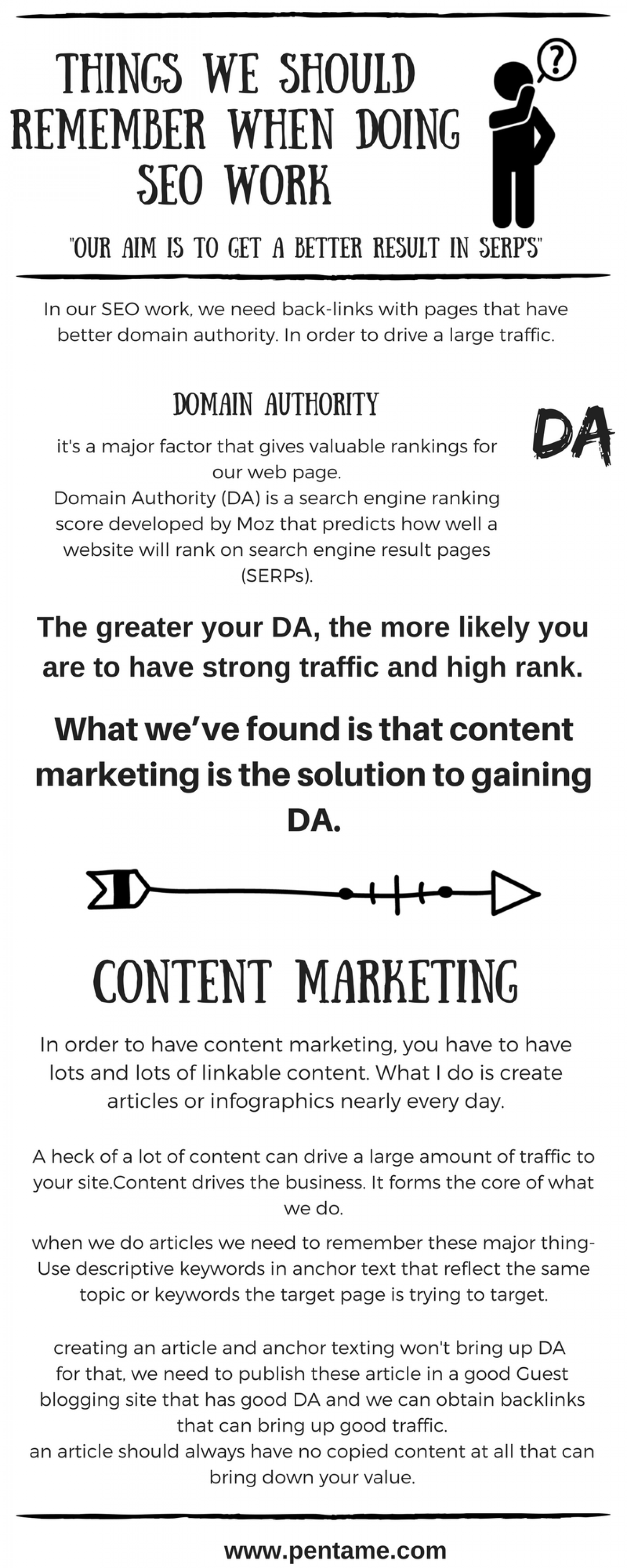 Things we should remember while doing SEO work Infographic