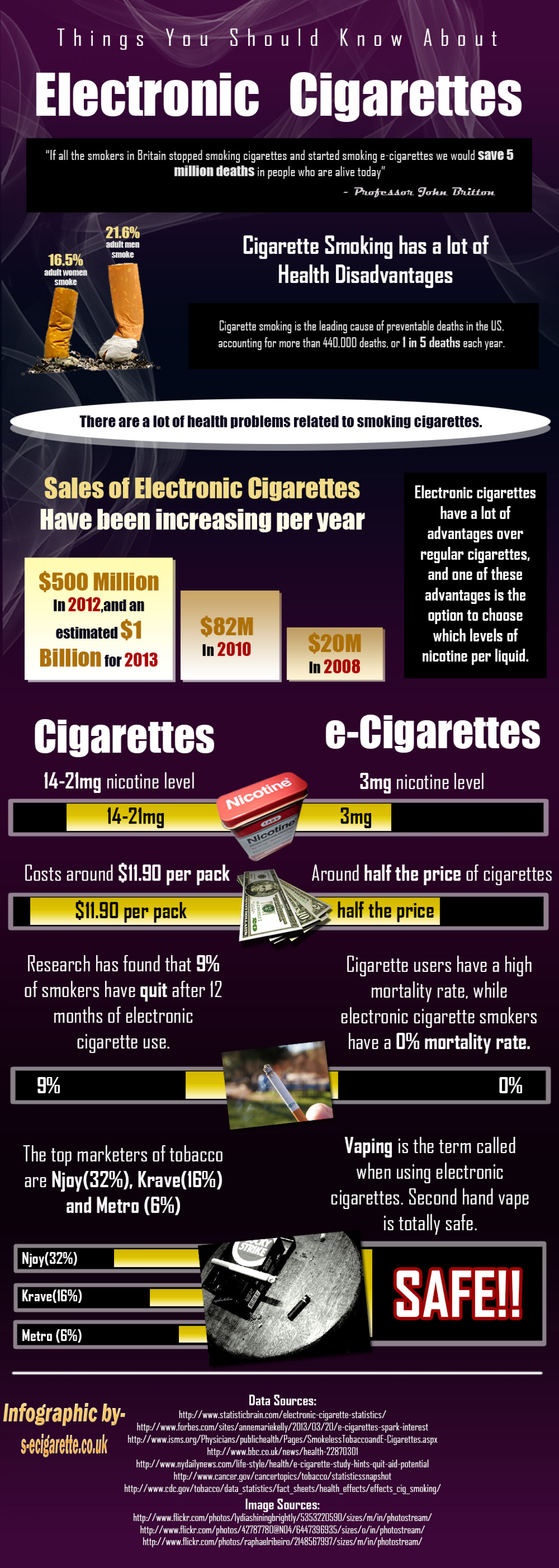 Things You Should Know About Electronic Cigarettes Infographic
