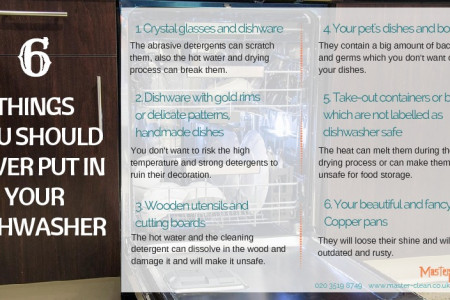 Things you should never put in your dishwasher Infographic