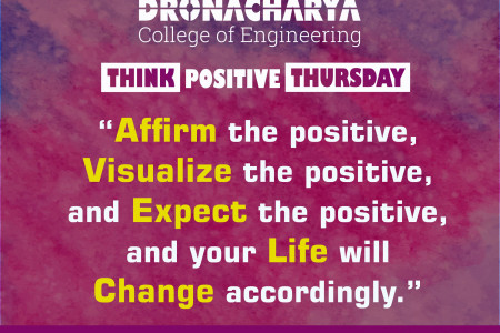 Think Positive_Dronacharya College of Engineering, Gurgaon Infographic