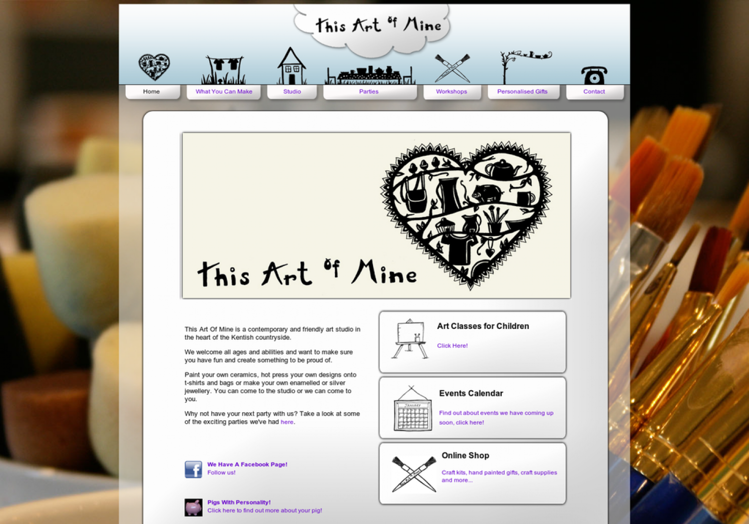 This Art Of Mine Website Infographic