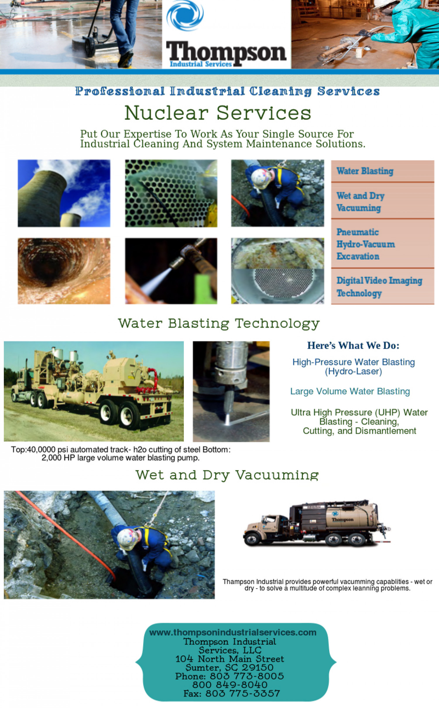 Thompsonindustrial Professional Cleaning Services | Visual ly