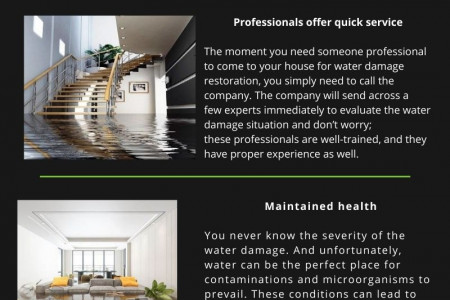 Three advantages of hiring water damage clean-up company Infographic