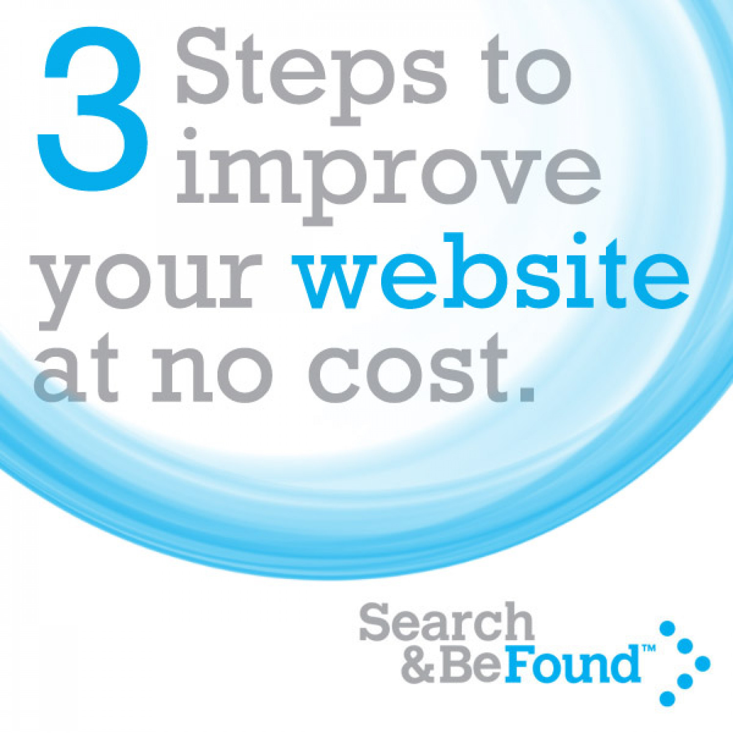 Three Steps to Improve Your Website For Free Infographic