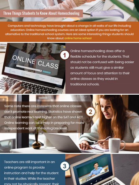 Three Things Students to Know About Homeschooling Infographic