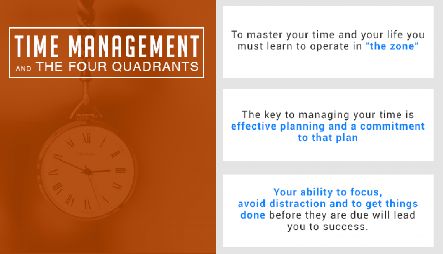 Time Management: Mastering the 4 Quadrents Infographic