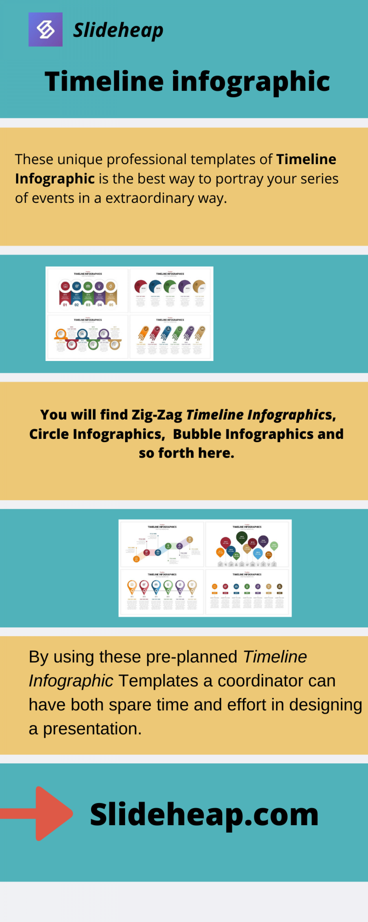 Timeline infographic | Slideheap Infographic