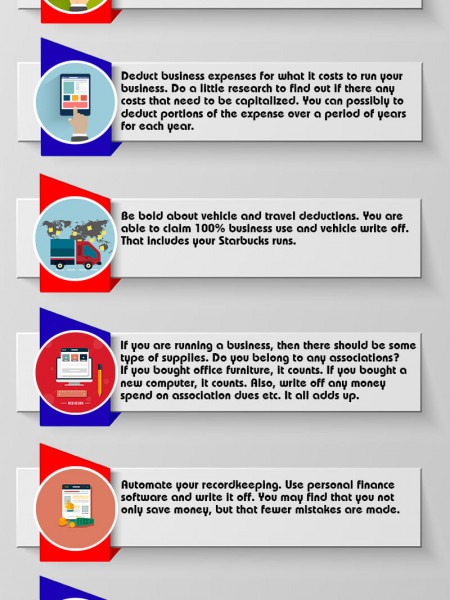 Timely Tax Tips for the Self Employed Infographic