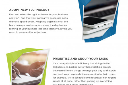Time-saving tips to increase your business's efficiency Infographic