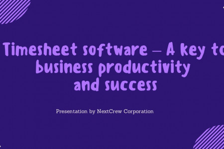 Timesheet software a key to business productivity and success Infographic