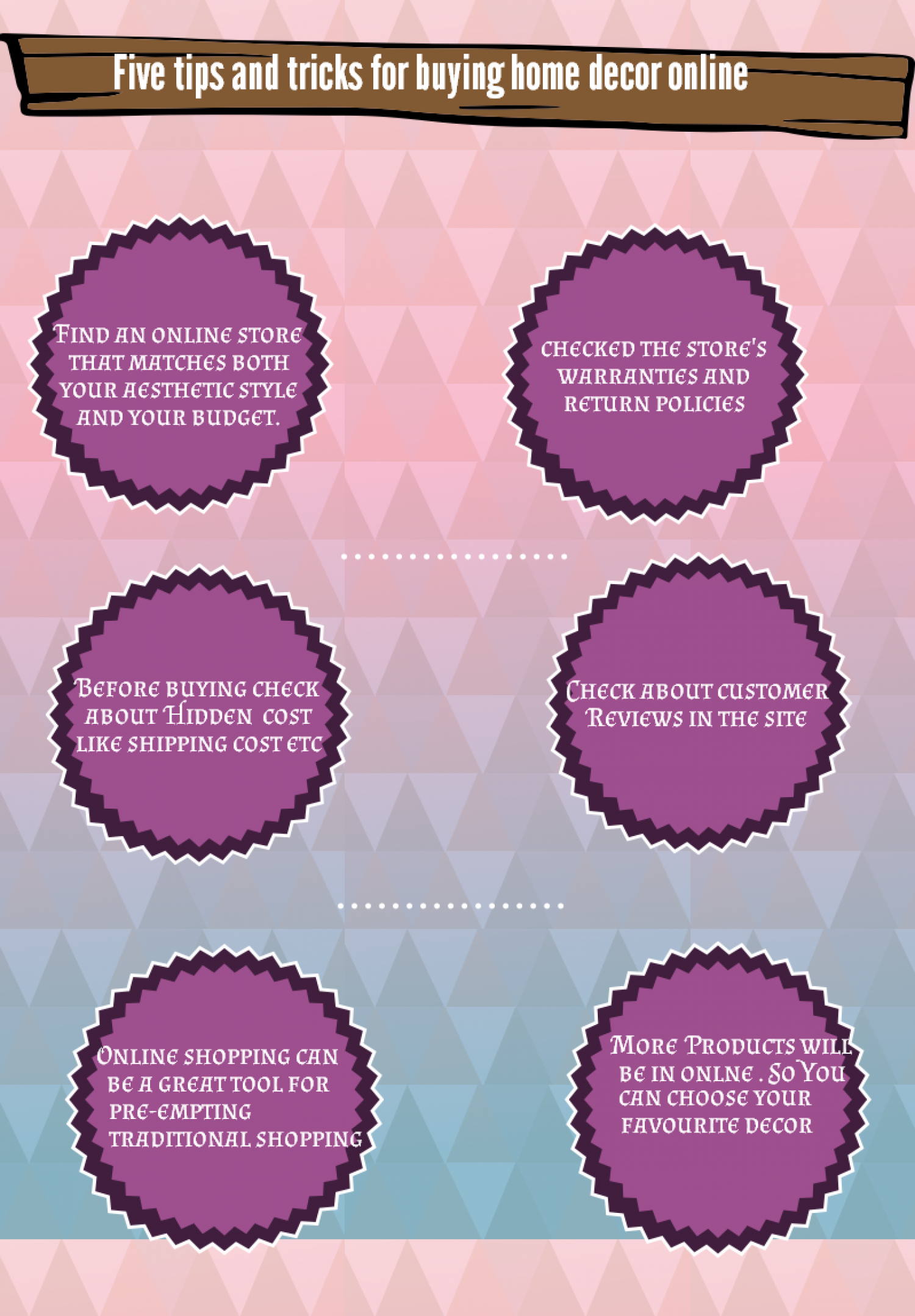 Tips and Tricks for Buying Home Decor Online Infographic