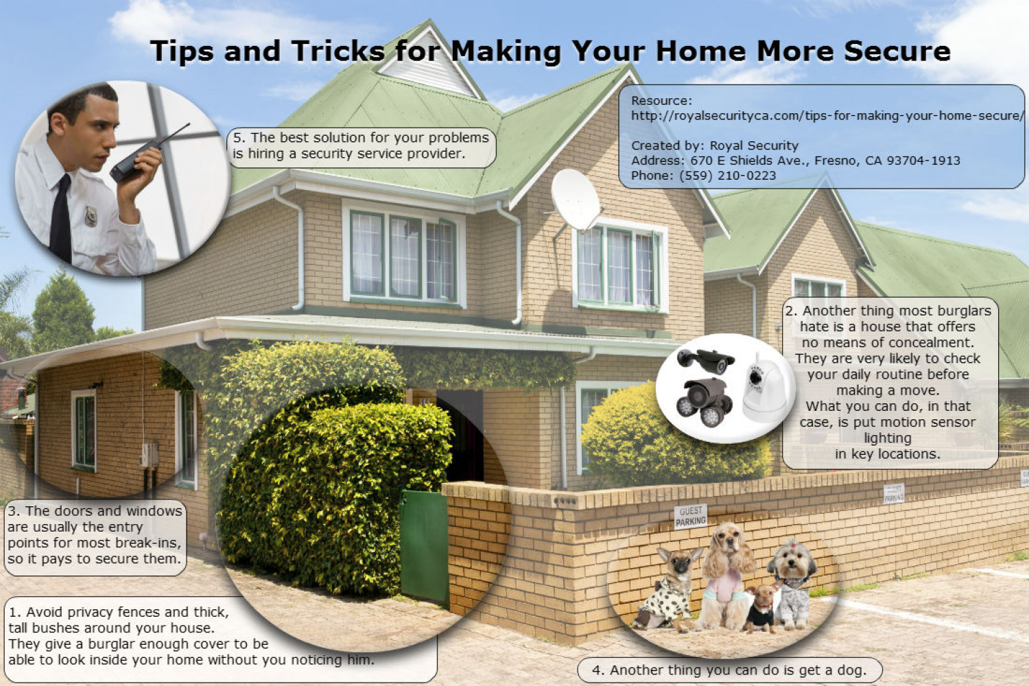 Tips and Tricks for Making Your Home More Secure by Royal Security  Infographic
