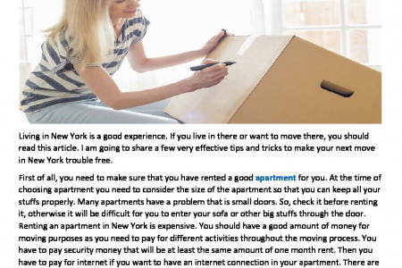 Tips and Tricks of Moving In New York Infographic