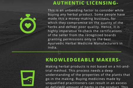Tips before choosing right ayurvedic herbal medicine manufacturers in India Infographic