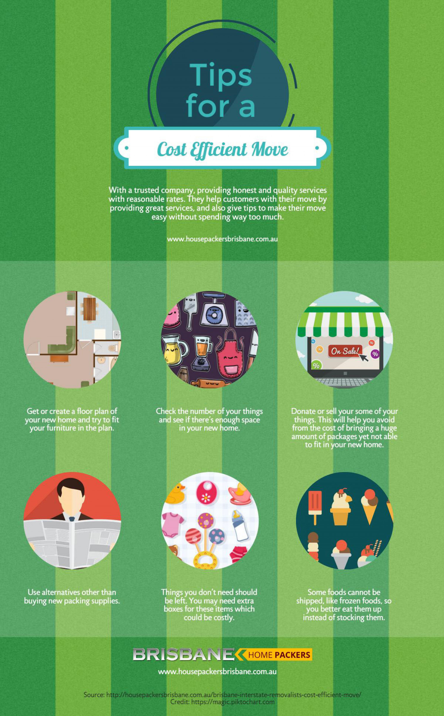 Tips for a Cost Effective Move Infographic