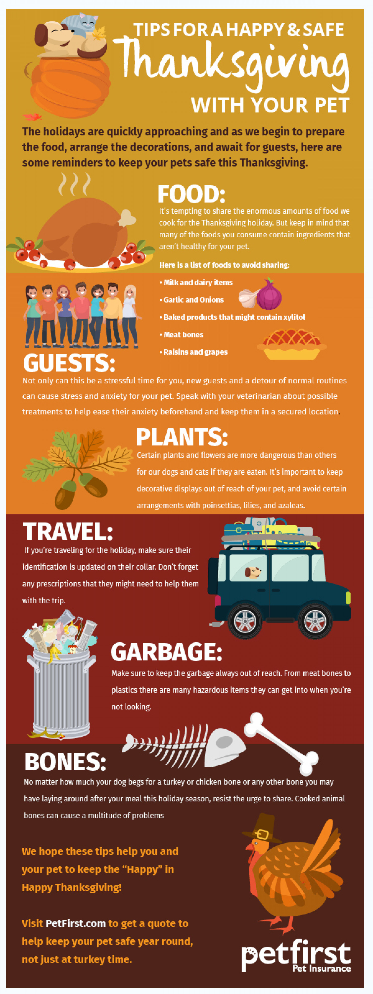 Tips for a happy and safe Thanksgiving with your pet Infographic