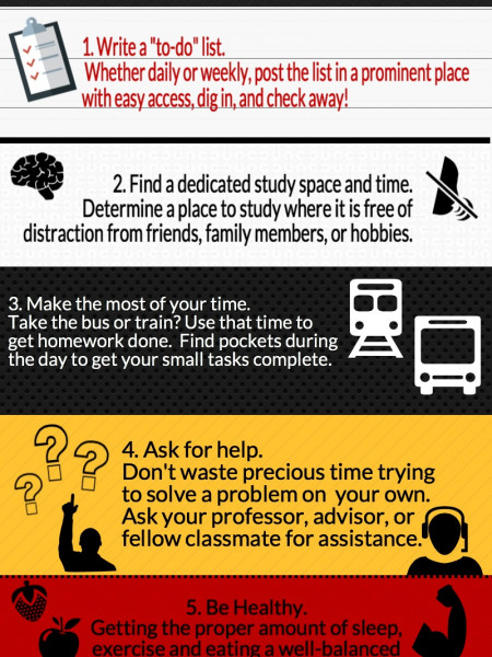 Tips for Adult Students Infographic