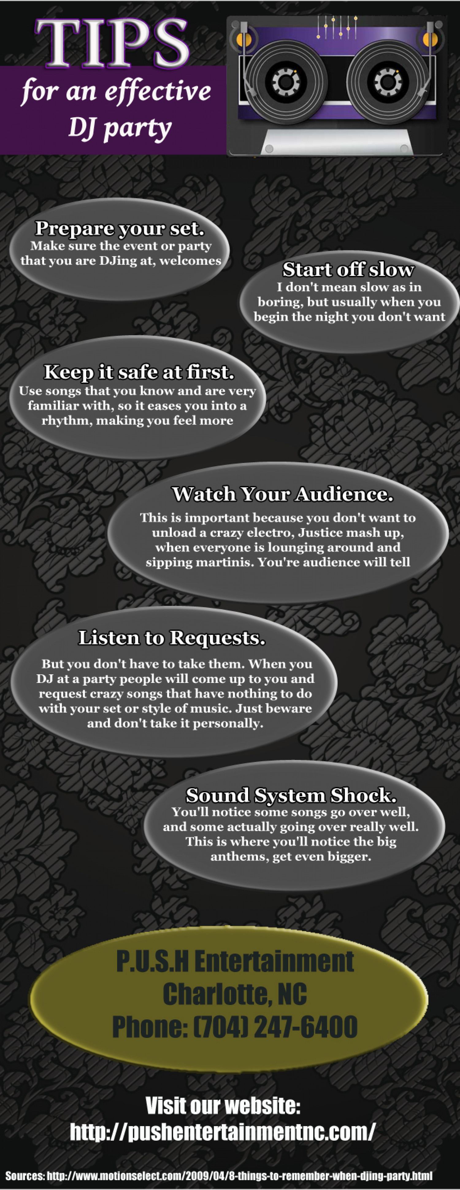 Tips For an Effective DJ Party Infographic