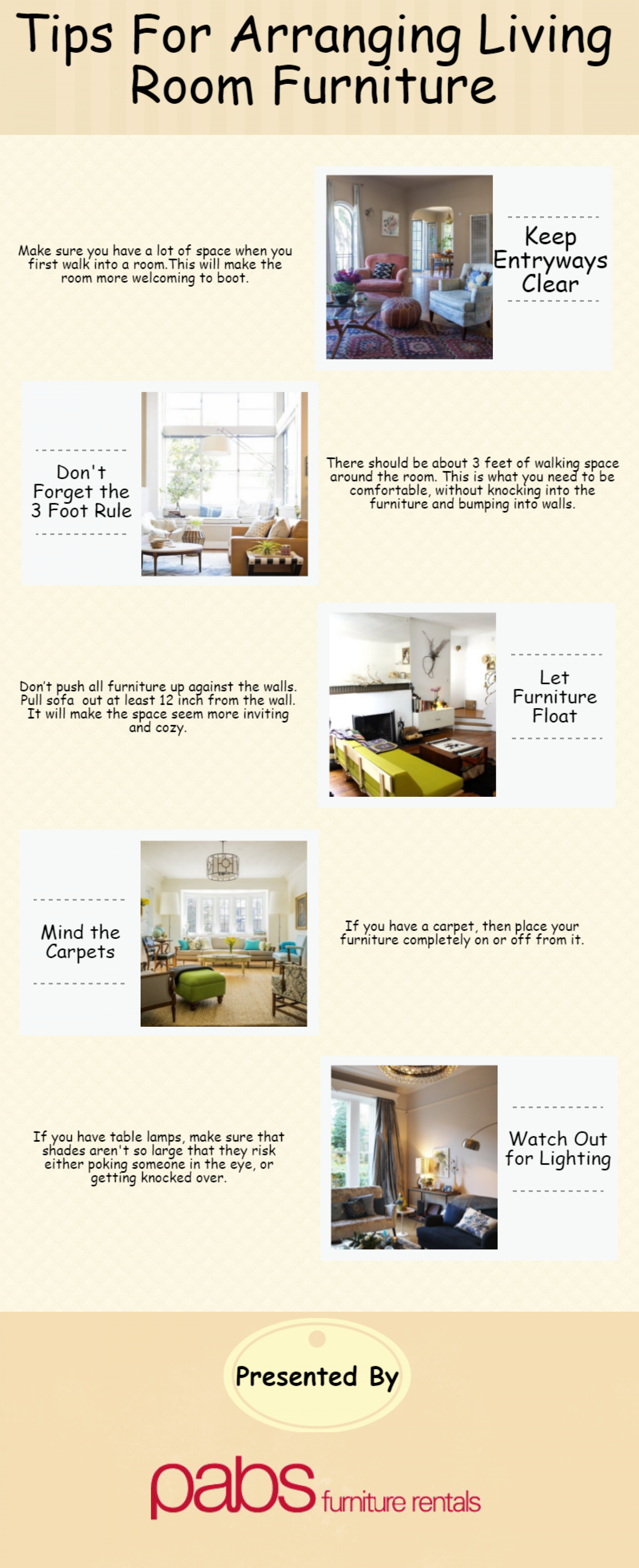 Tips For Arranging Living Room Furniture | Visual.ly