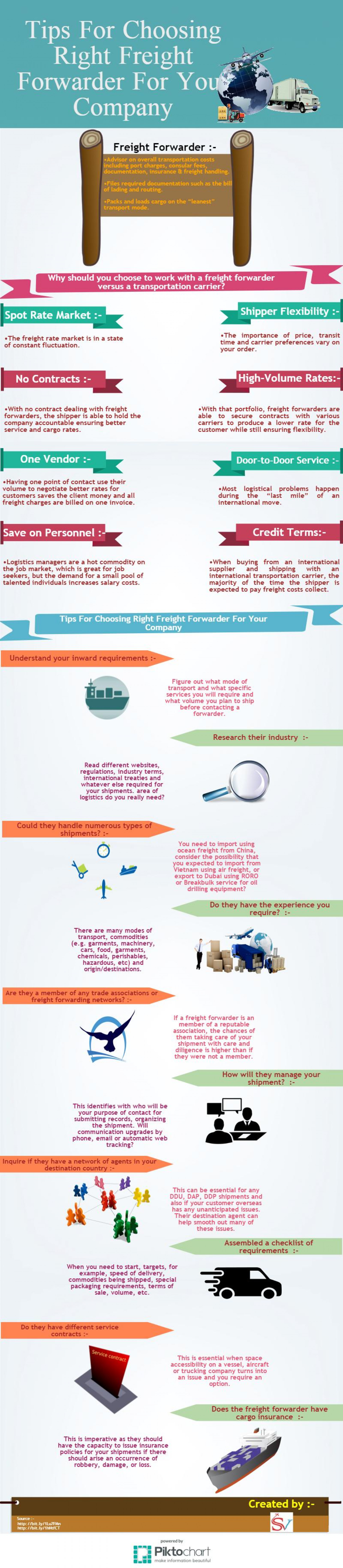 Tips For Choosing Right Freight Forwarder For Your Company Infographic