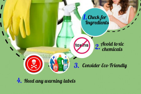 Tips for choosing safe cleaning products Infographic