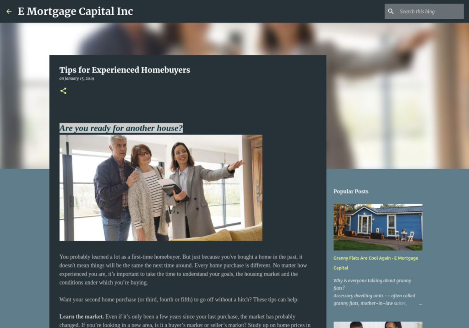 Tips for Experienced Homebuyers Infographic