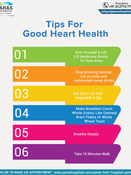 Tips for Good heart Health Infographic