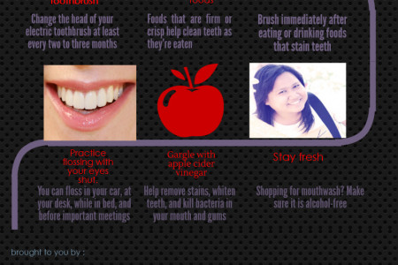 Tips for Healthy,  White Teeth Infographic