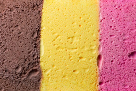 Tips for Making Striped Ice Cream Infographic